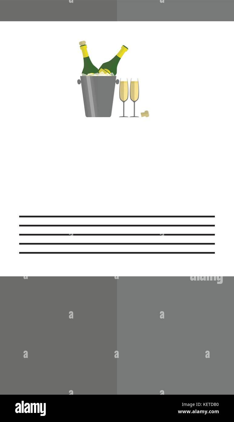 Invitación al día de año nuevo formato A5 (ideal para imprimir ...