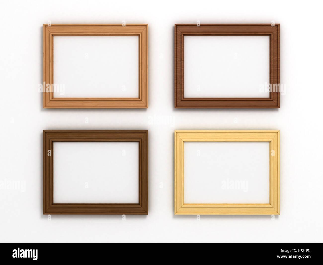Conjunto de marcos horizontales de madera multicolores de diferentes ...