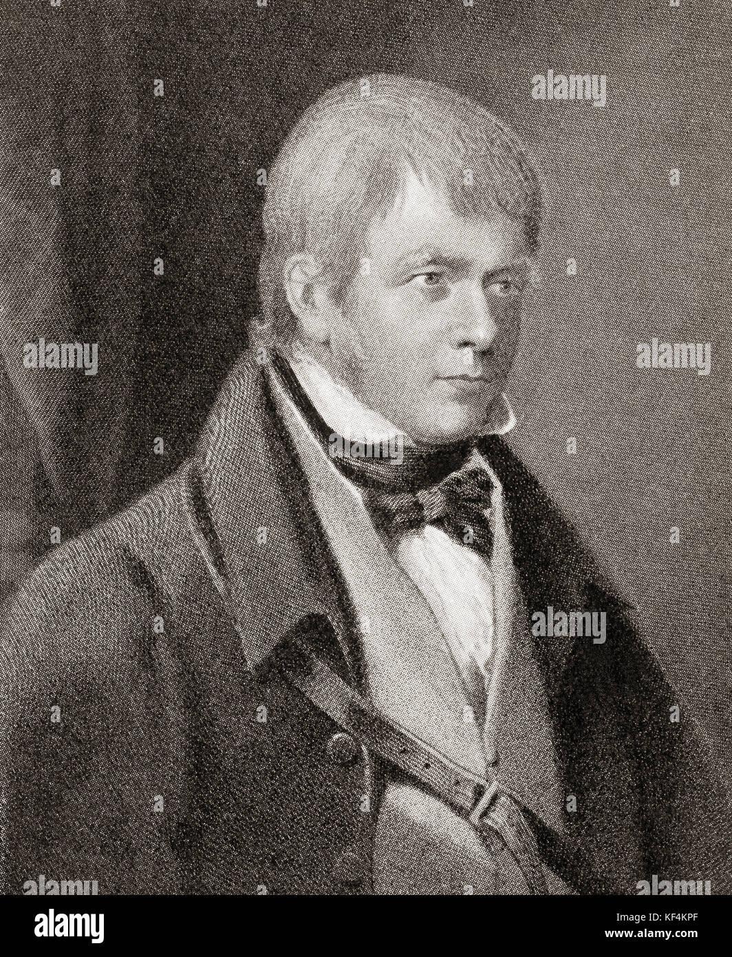 Sir Walter Scott, 1º baronet, 1771 - 1832. histórico escocés, novelista, dramaturgo y poeta. de Hutchinson Imagen De Stock
