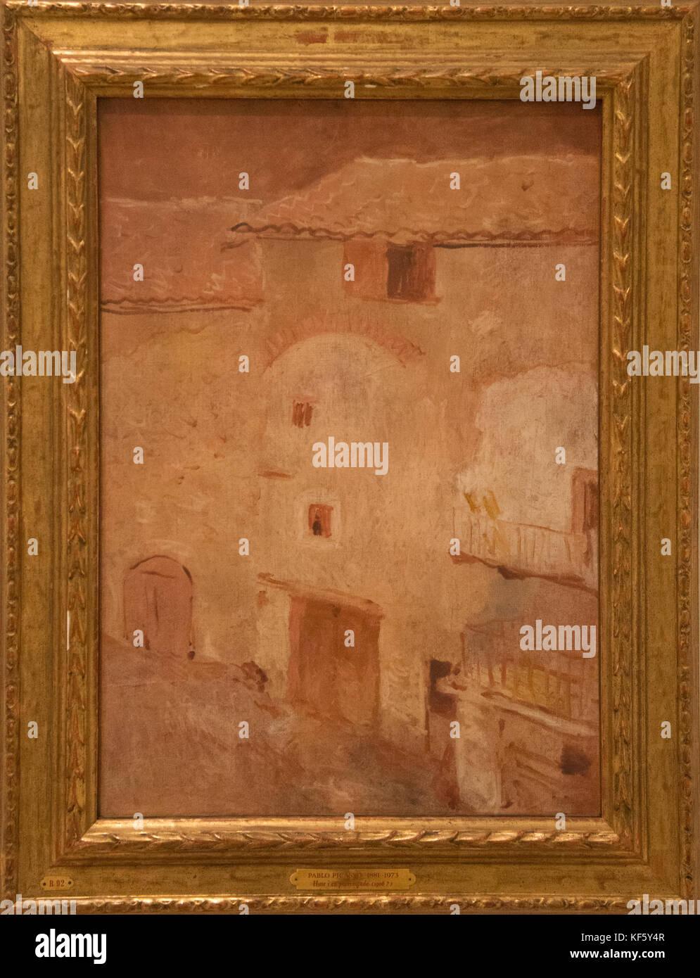 En Gosol 'casas' de Picasso Foto de stock
