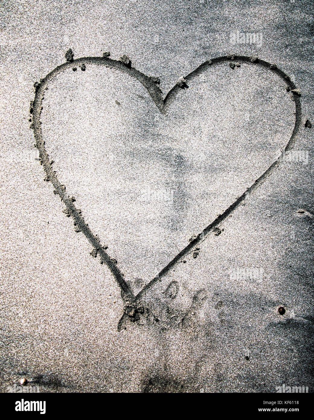 El corazón, el amor, el compromiso, la relación Imagen De Stock