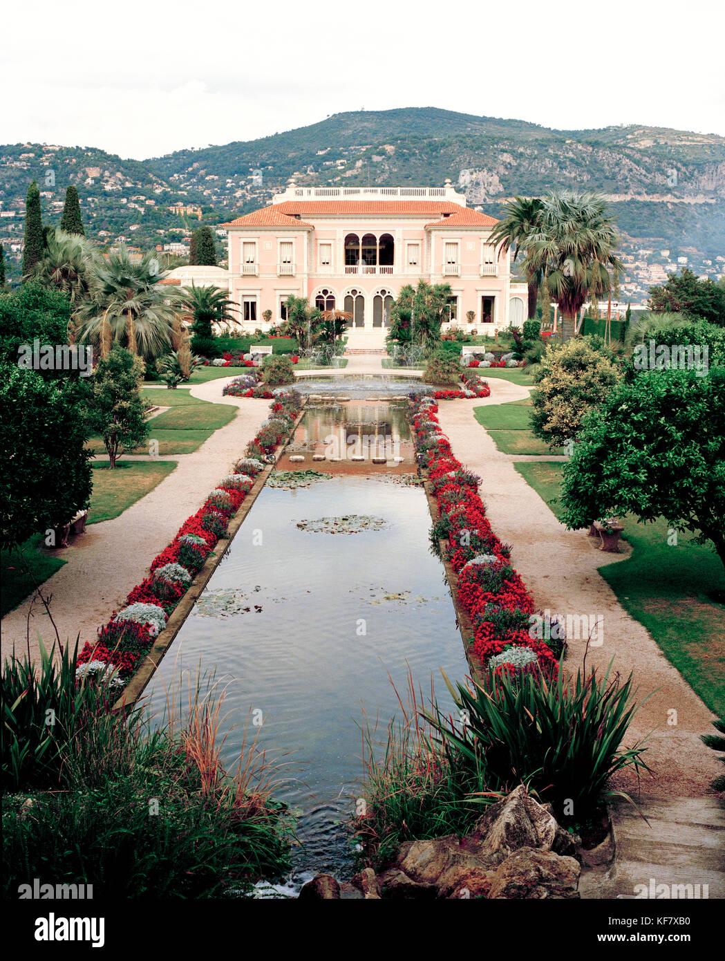 Francia, el exterior de la mansión Rothschild, Niza Imagen De Stock