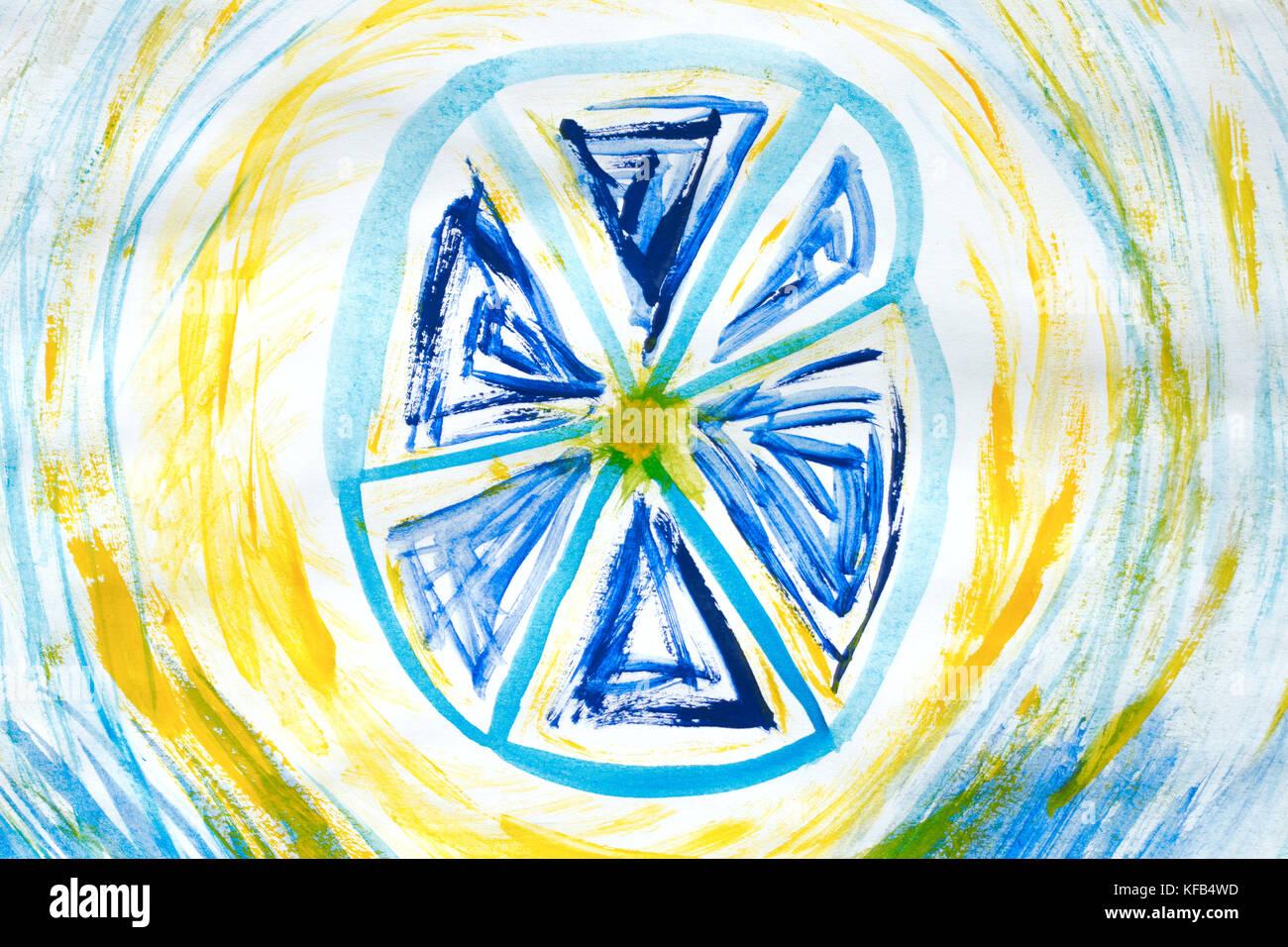 Resumen Antecedentes: pintura dibujada a mano patrones bluefloral ...