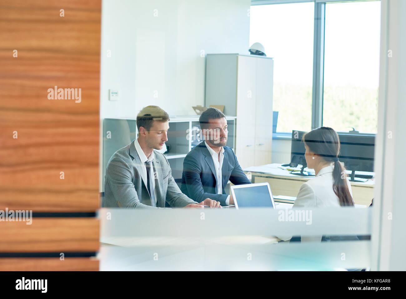 Reunión de negocios, espacio de copia Foto de stock