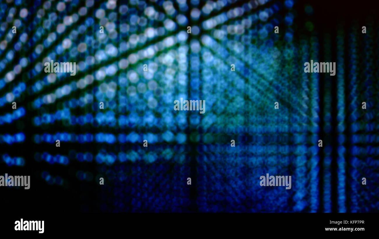 Concepto de iluminación o tecnología digital concepto de iluminación para copiar el espacio bokeh luces. hermoso azul verde tecnología digital desenfoque de fondo luces Foto de stock