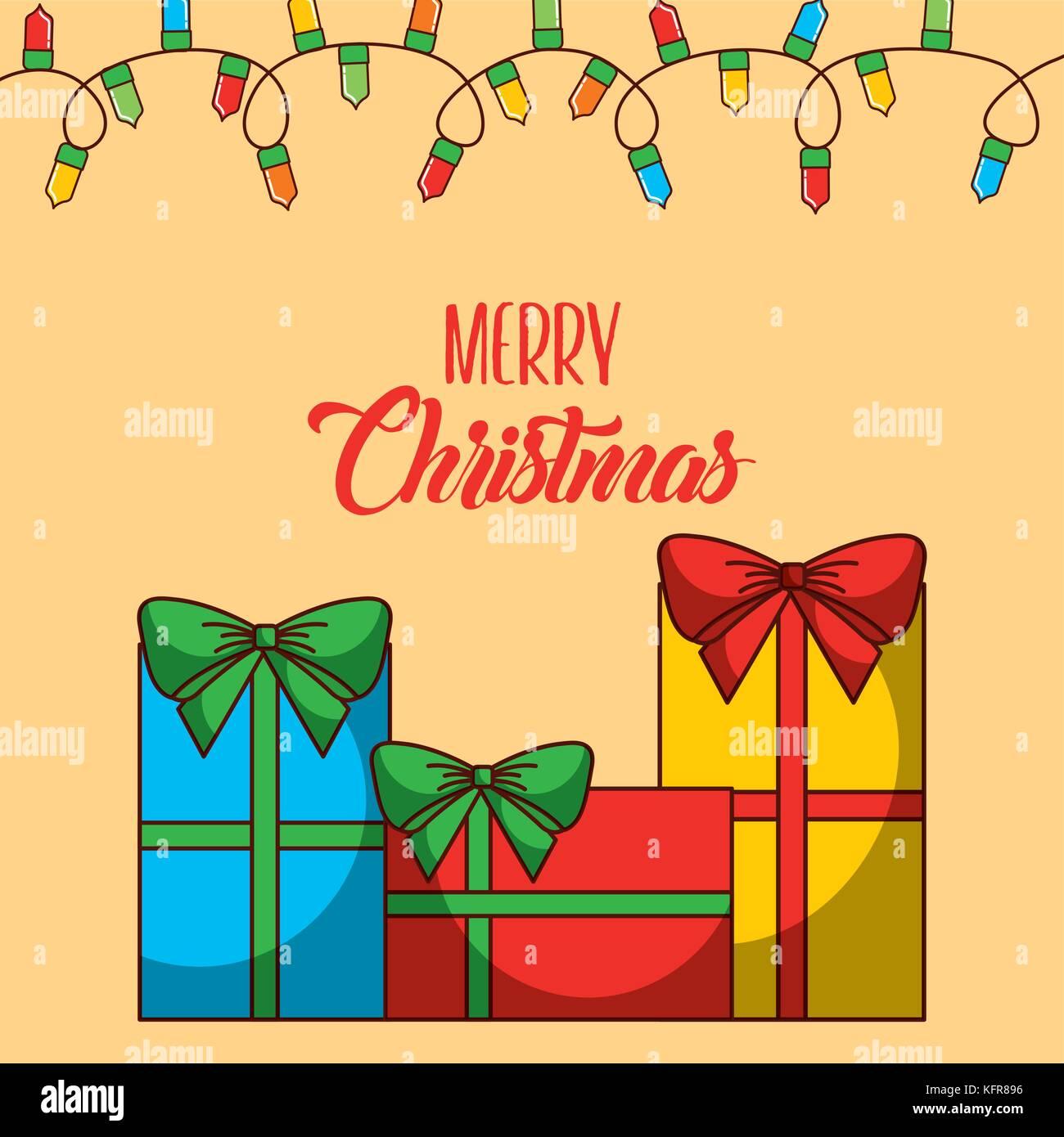 Feliz Navidad Tarjeta De Invitación De Saludo Tradicional