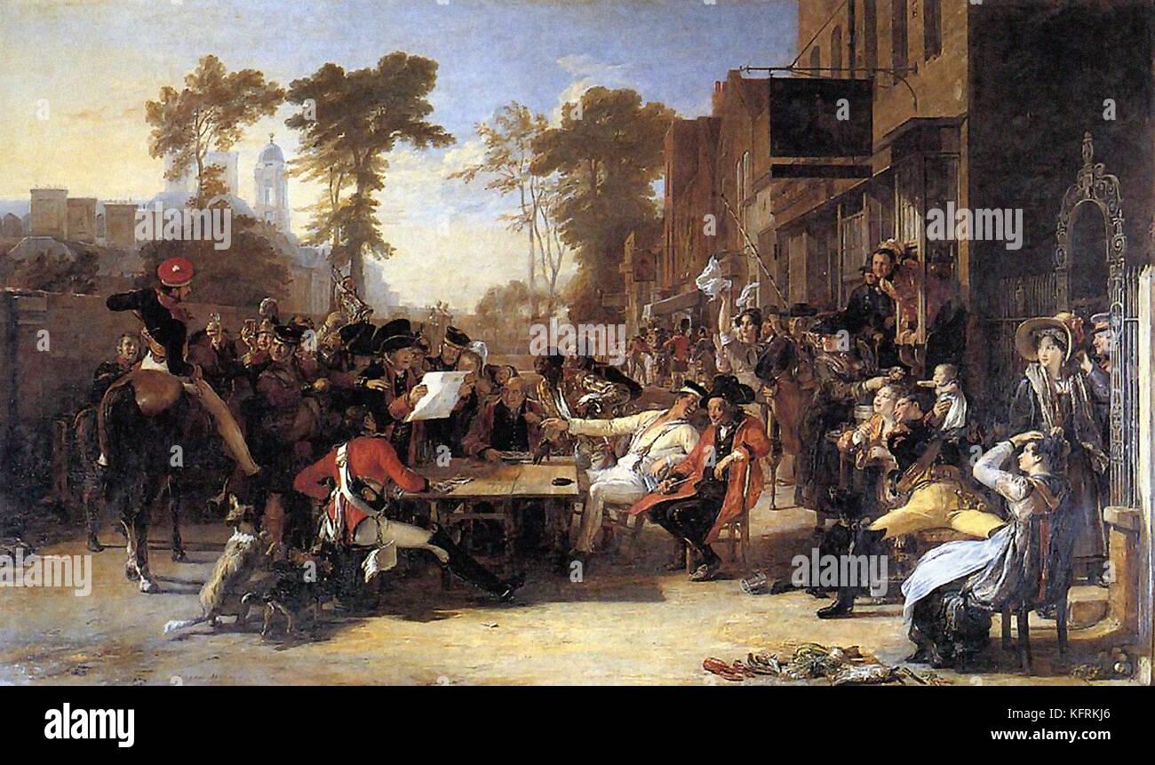 El Chelsea pensionistas leer el despacho de waterloo por sir David wilkie Imagen De Stock