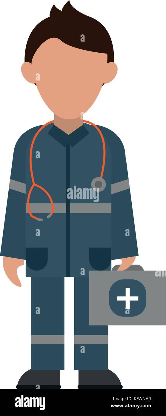 Paramédico avatar imagen de icono Ilustración del Vector