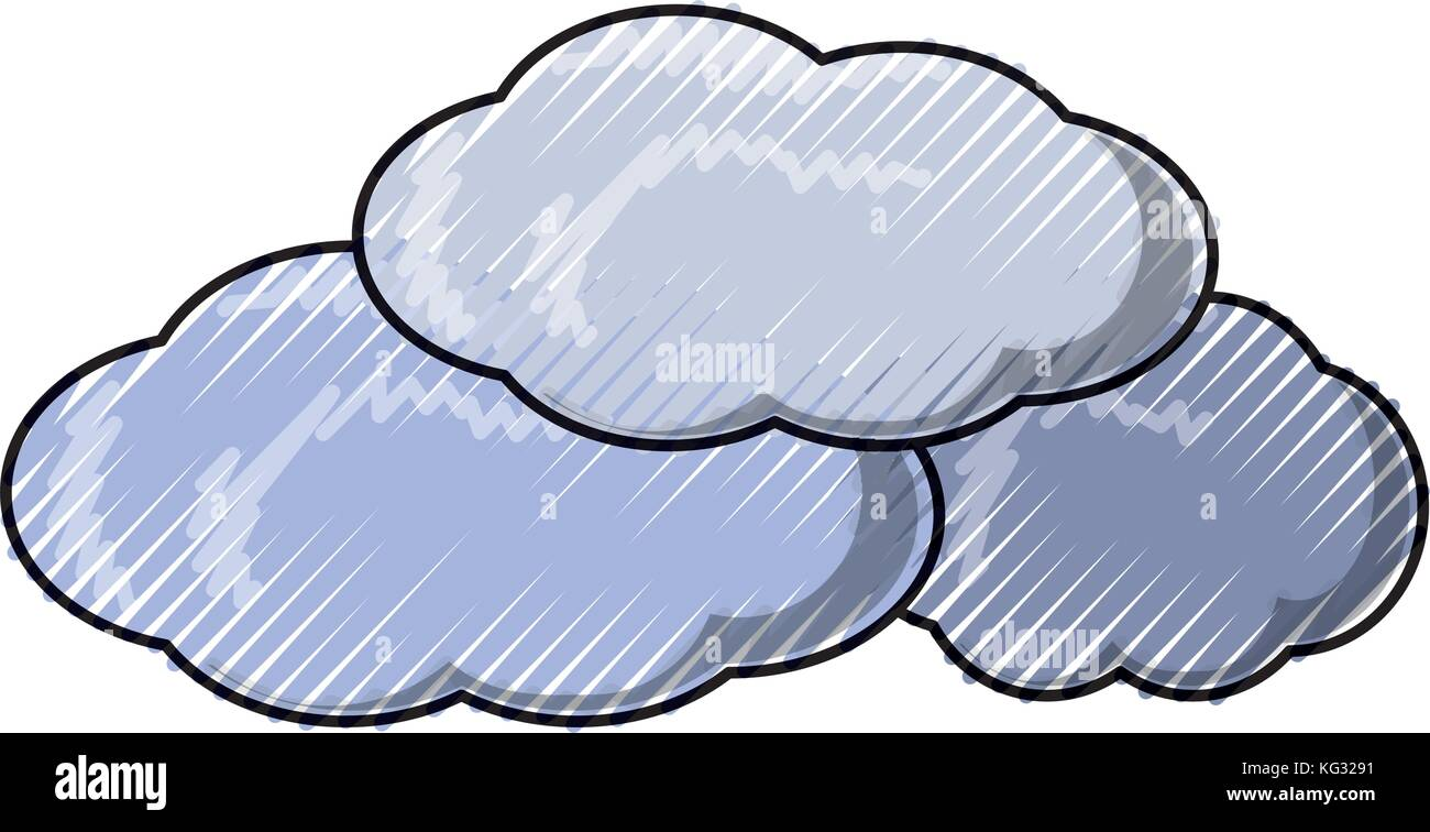 El clima nublado ilustración vectorial Imagen Vector de stock - Alamy