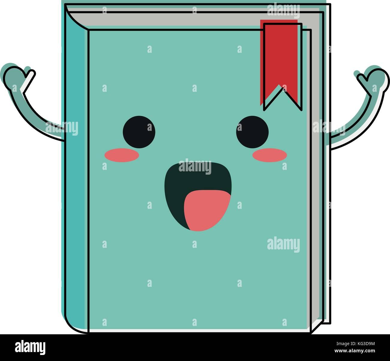 Libro Feliz Personaje De Dibujos Animados Imagen De Icono