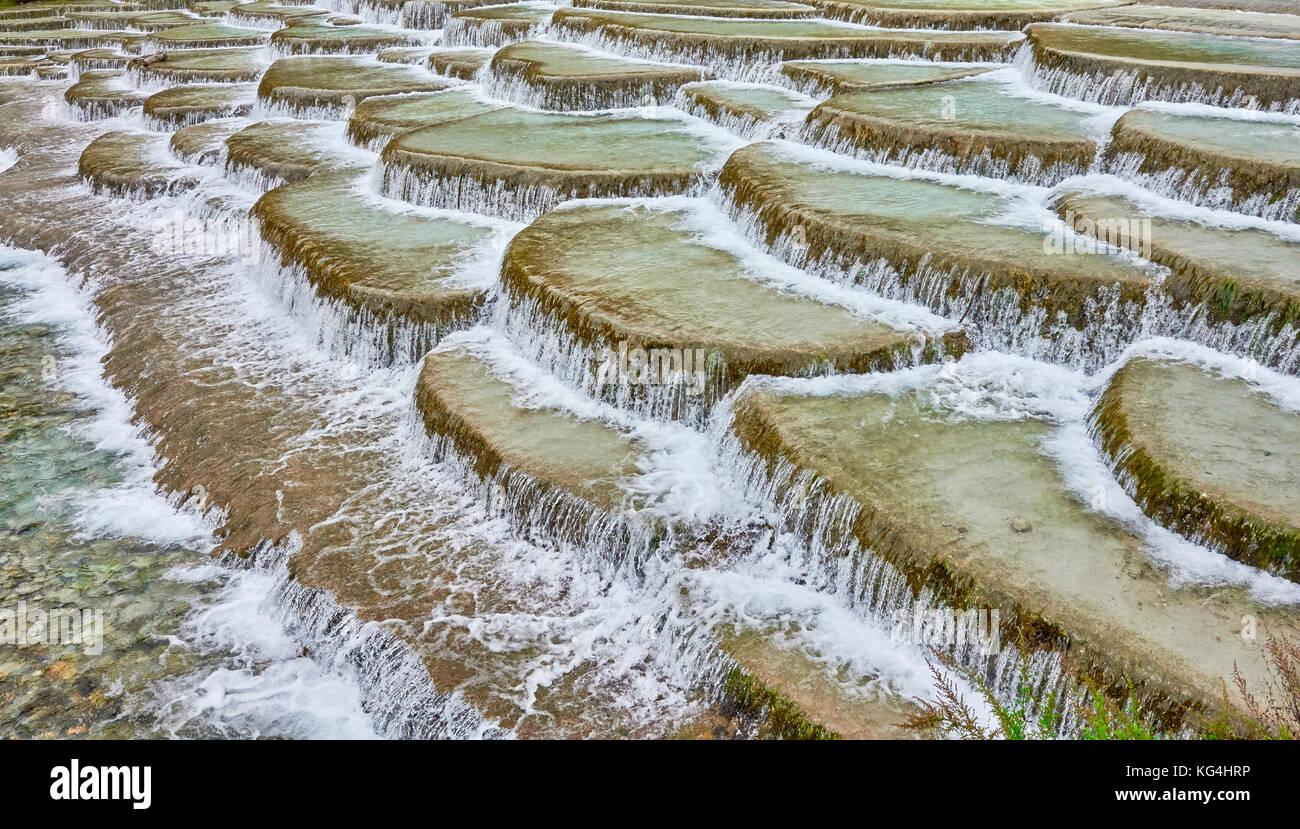 Terrazas Fluviales De Agua Blanca En El Valle De La Luna
