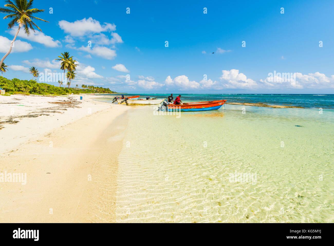 Mano Juan, Isla Saona, East National Park (Parque Nacional del Este), en la República Dominicana, Mar Caribe. Foto de stock