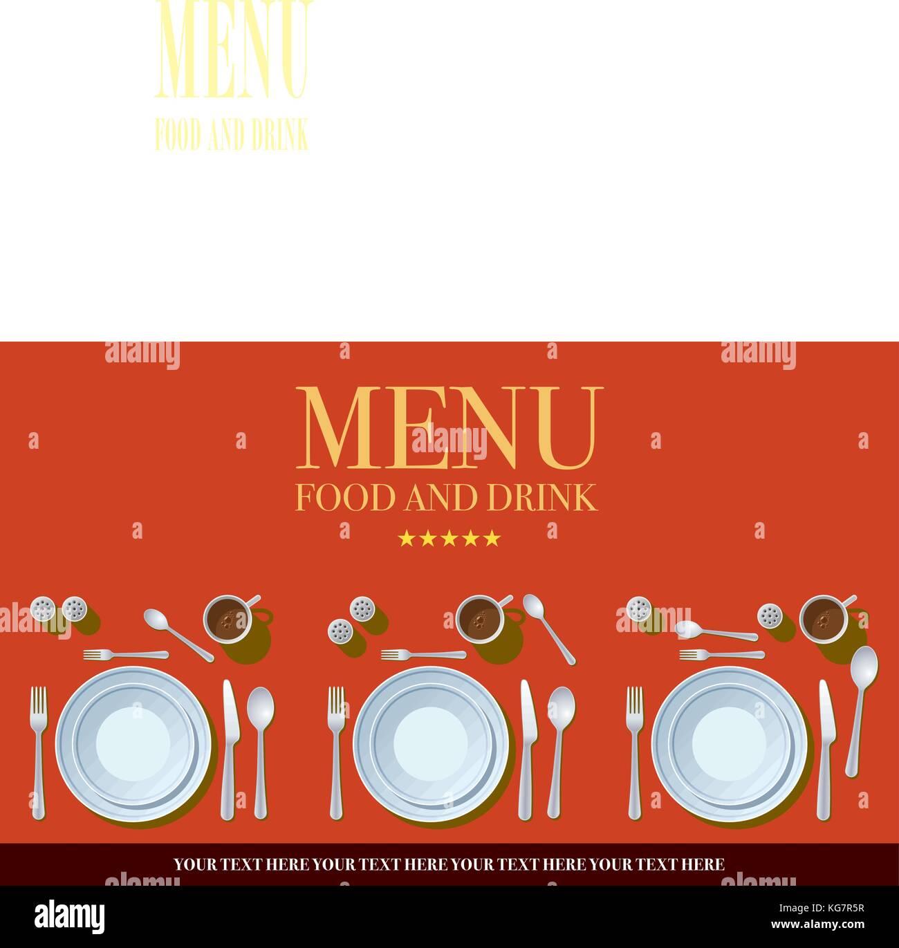 Restaurante Menú Diseño de la cubierta. Plantilla de diseño de ...