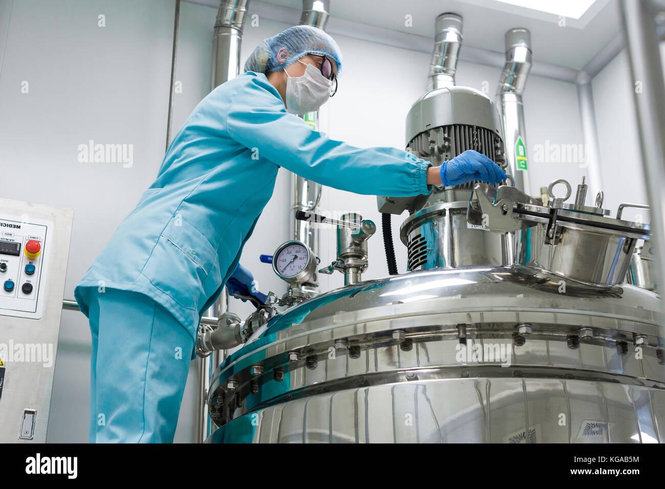 La producción de la fábrica, el proceso, la industria Imagen De Stock