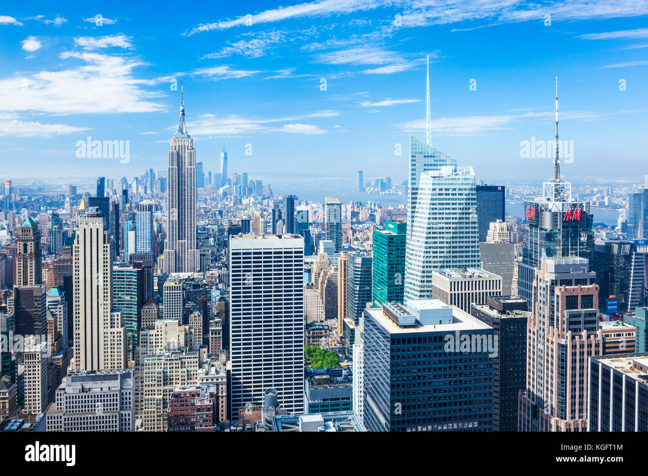 Perfil de Manhattan, Nueva York, el Empire State Building, Nueva York, Estados Unidos de América, América Imagen De Stock