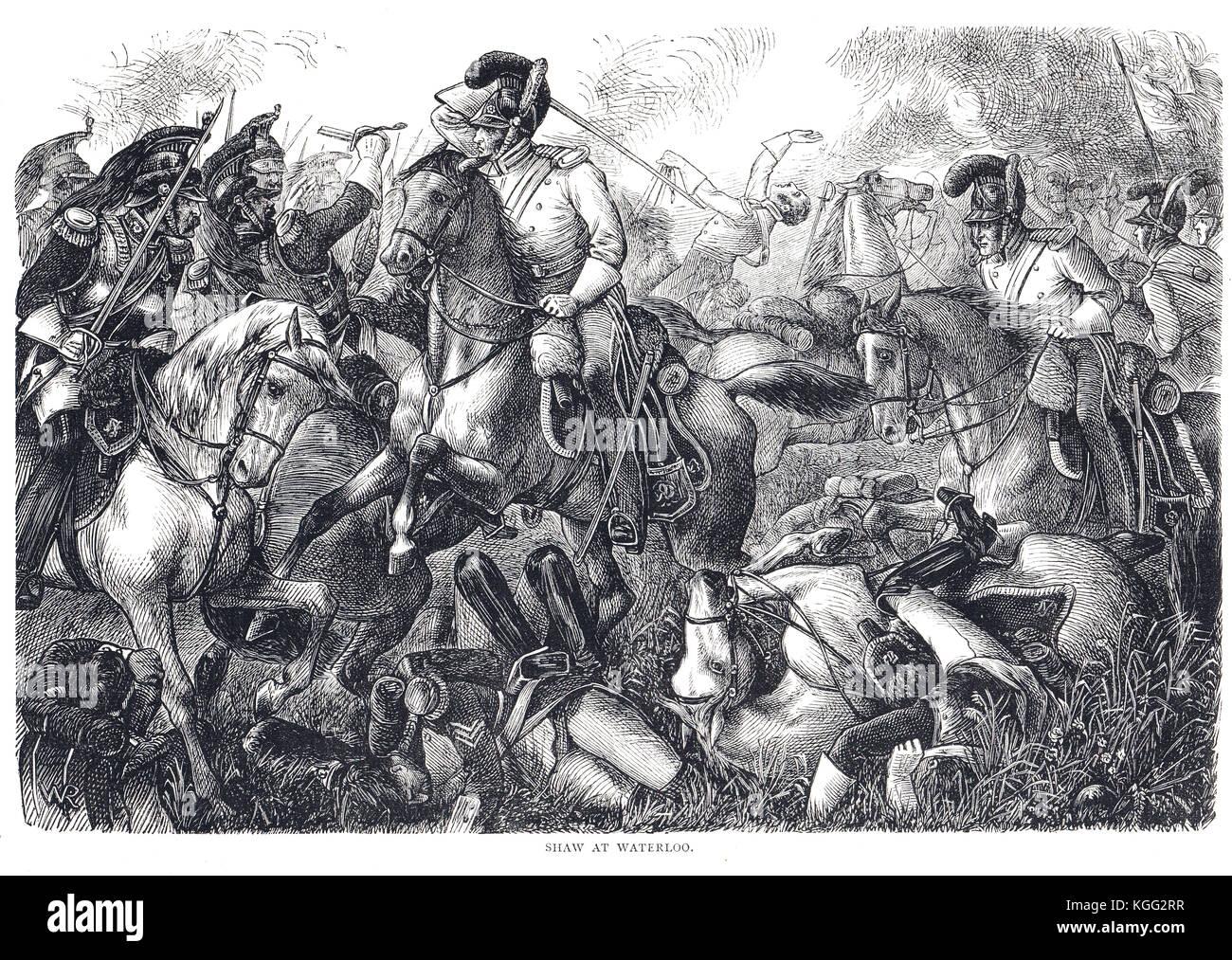 Shaw, John corporal 2a cargo de guardias de la vida, la batalla de Waterloo, el 18 de junio de 1815 Foto de stock