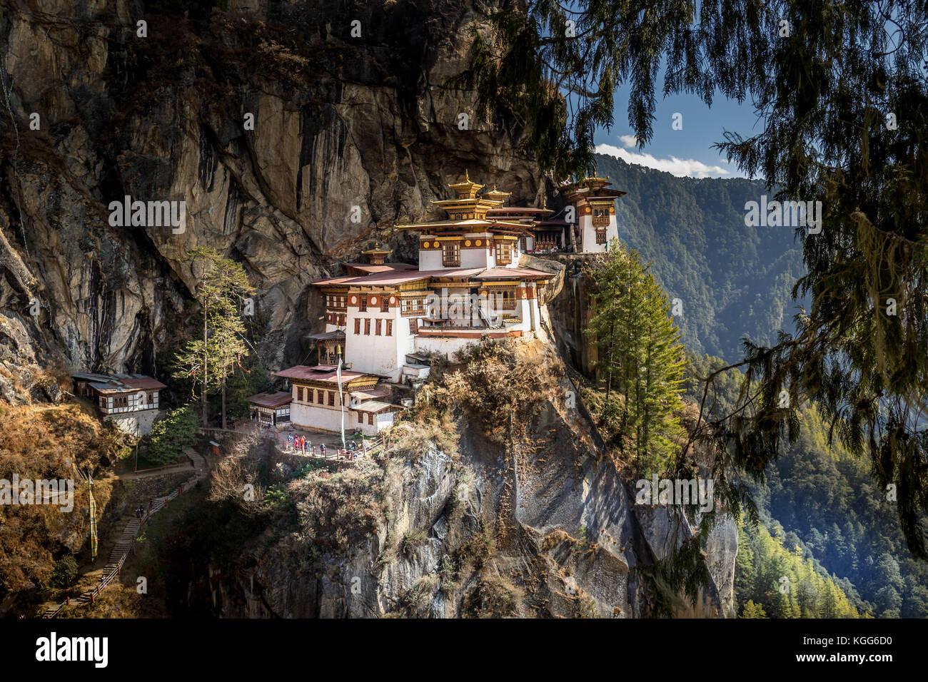 Famoso monasterio de Tiger's Nest cerca de Paro, Bhután Imagen De Stock