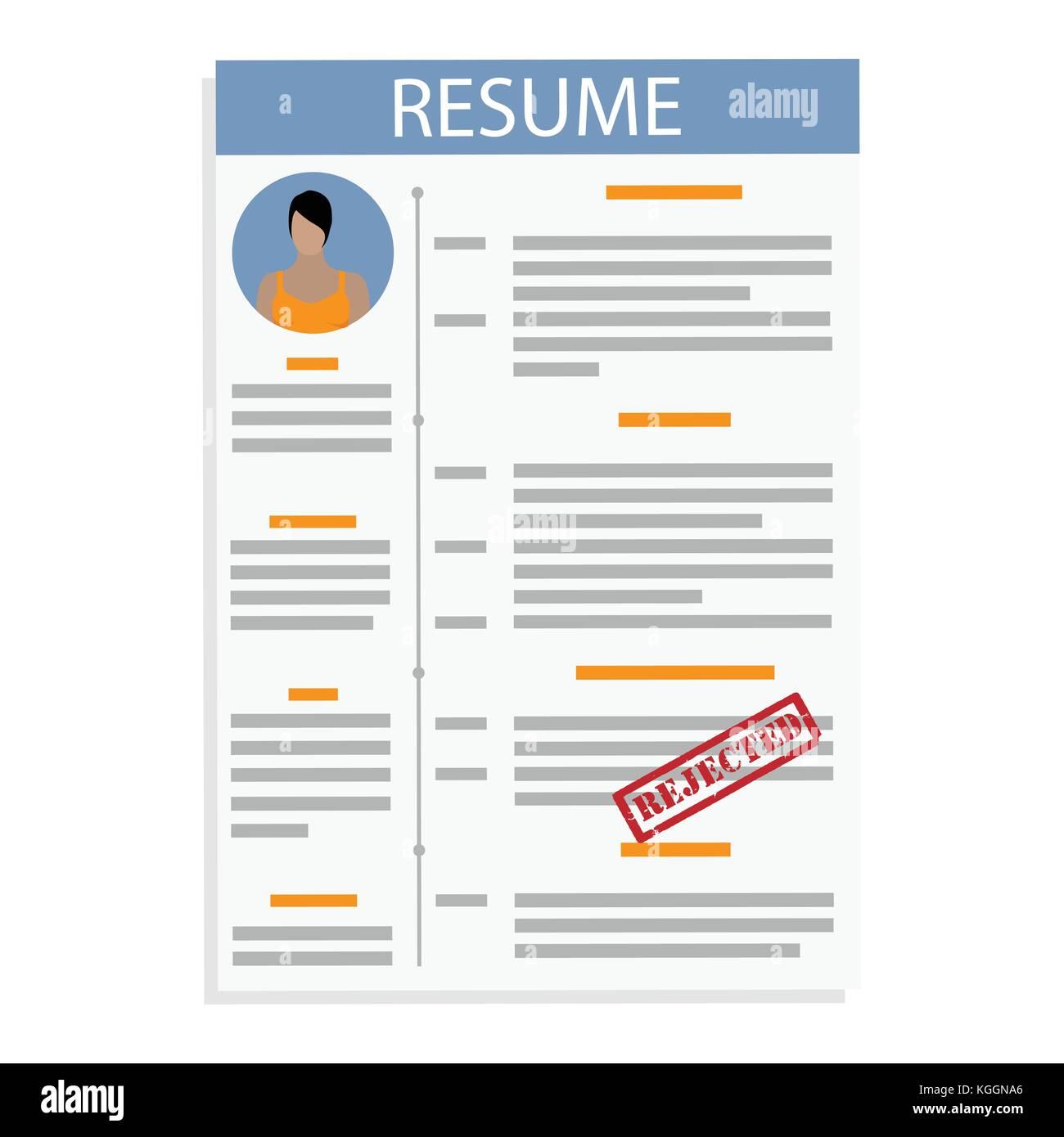 Curriculum Vitae Cv Resume Template Imágenes De Stock & Curriculum ...