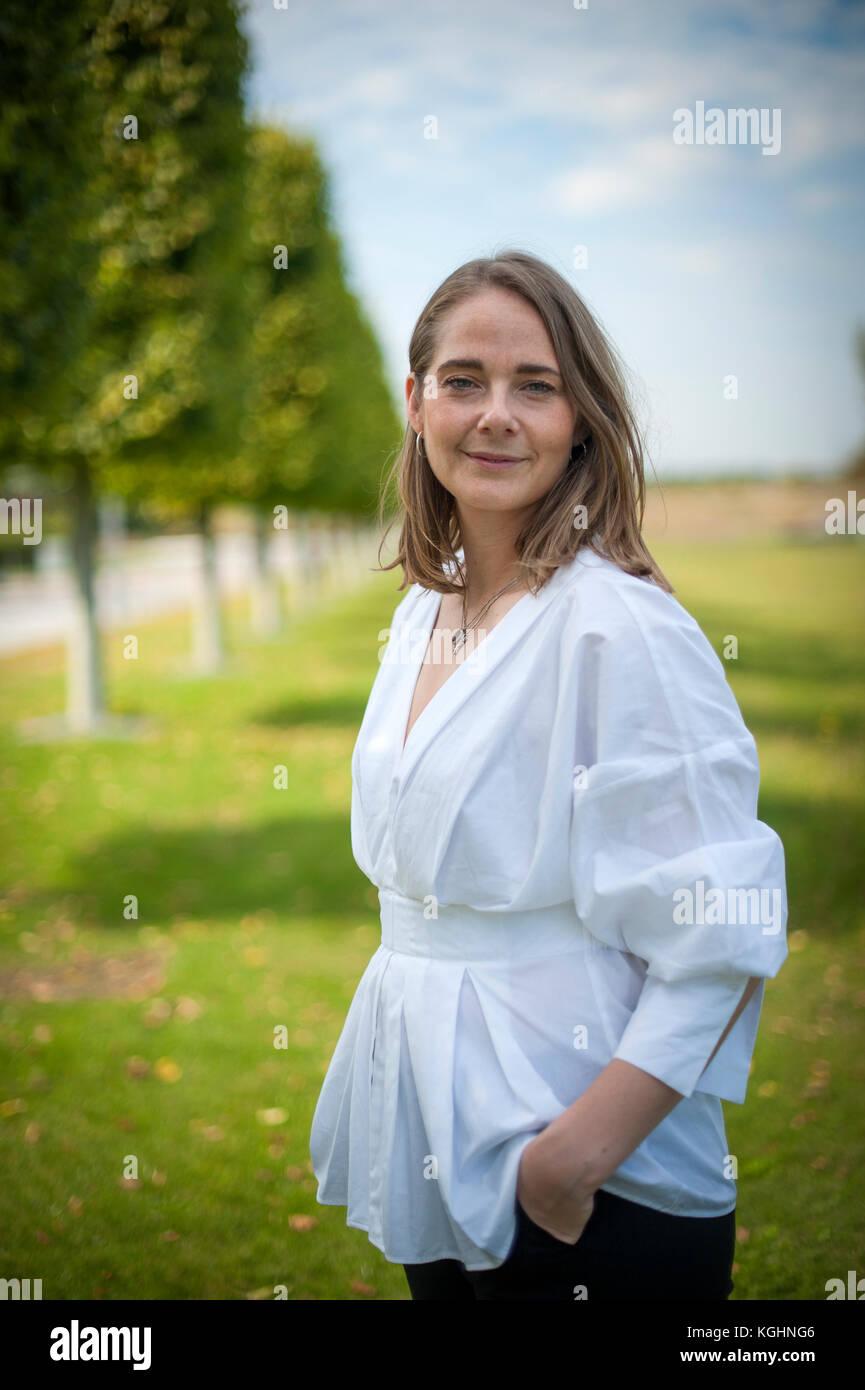 Anne Mette Høyer jefe de relaciones de negocios para SAP. Fotografiado en sus oficinas en Walldorf, Baden-Württemberg, Alemania. Foto de stock