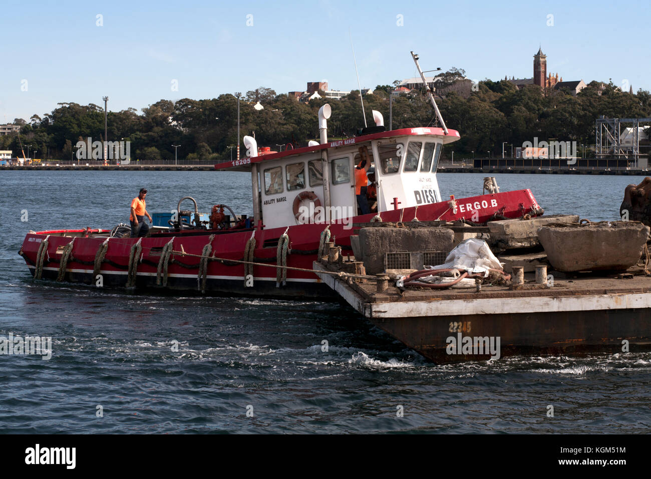 Capacidad barcaza jones bay pyrmont Sydney, New South Wales Australia Imagen De Stock