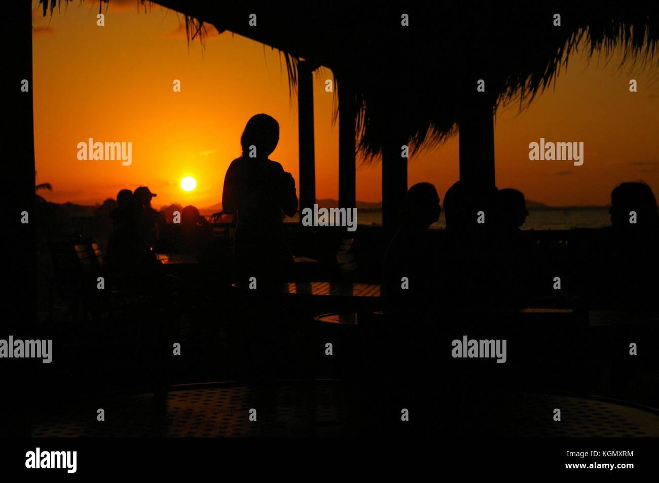 La increíble playa tarde tela Atlántida Honduras Imagen De Stock