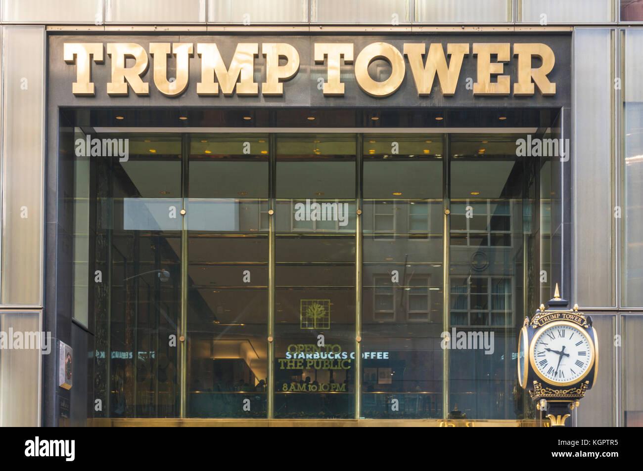 Trump Tower Nueva York nueva york Trump Tower fachada exterior Midtown de Manhattan, Nueva York, EE.UU. Imagen De Stock