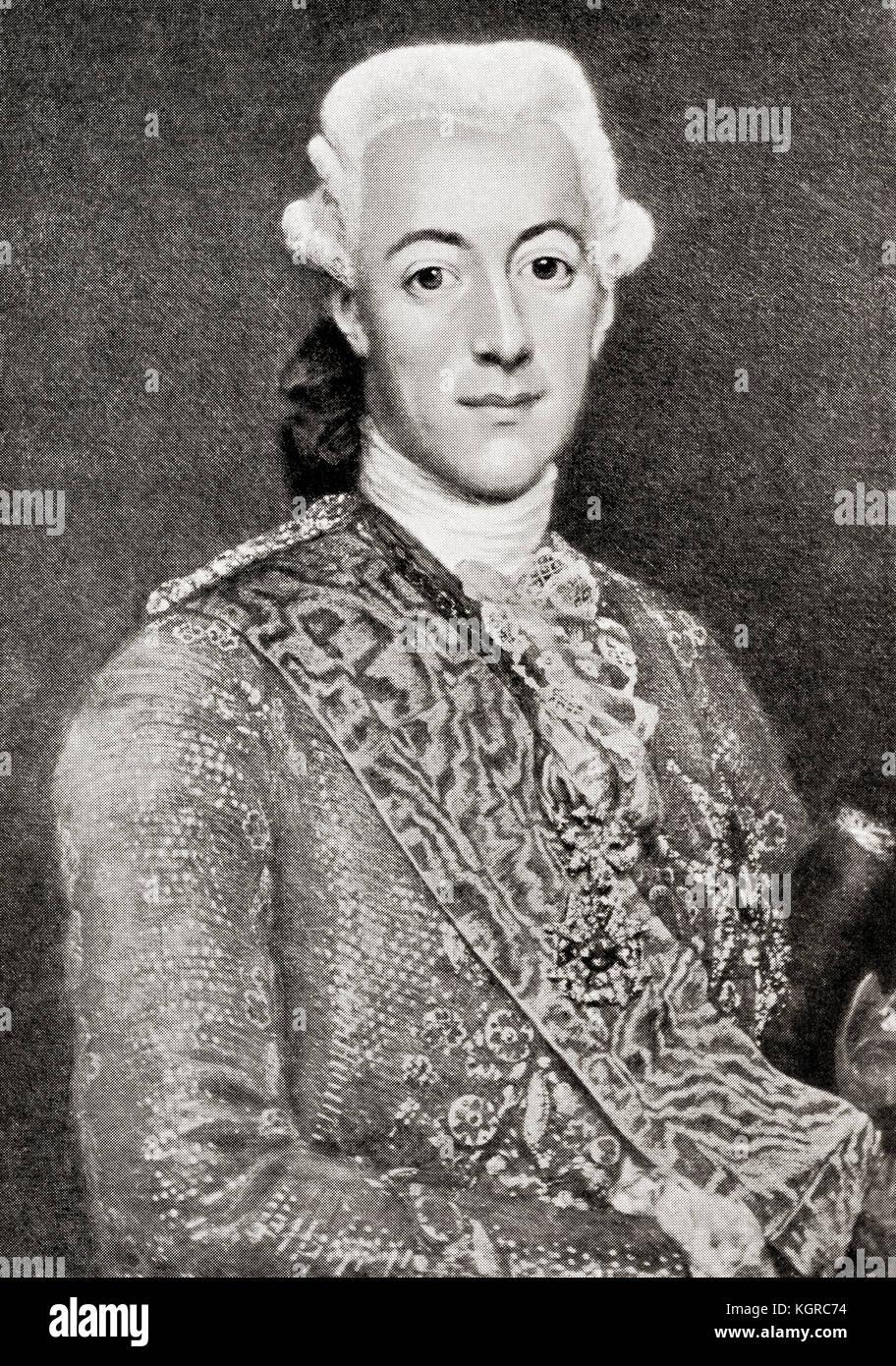 Gustav III, 1746 - 1792. El rey de Suecia. de Hutchinson la historia de las naciones, publicado en 1915. Imagen De Stock