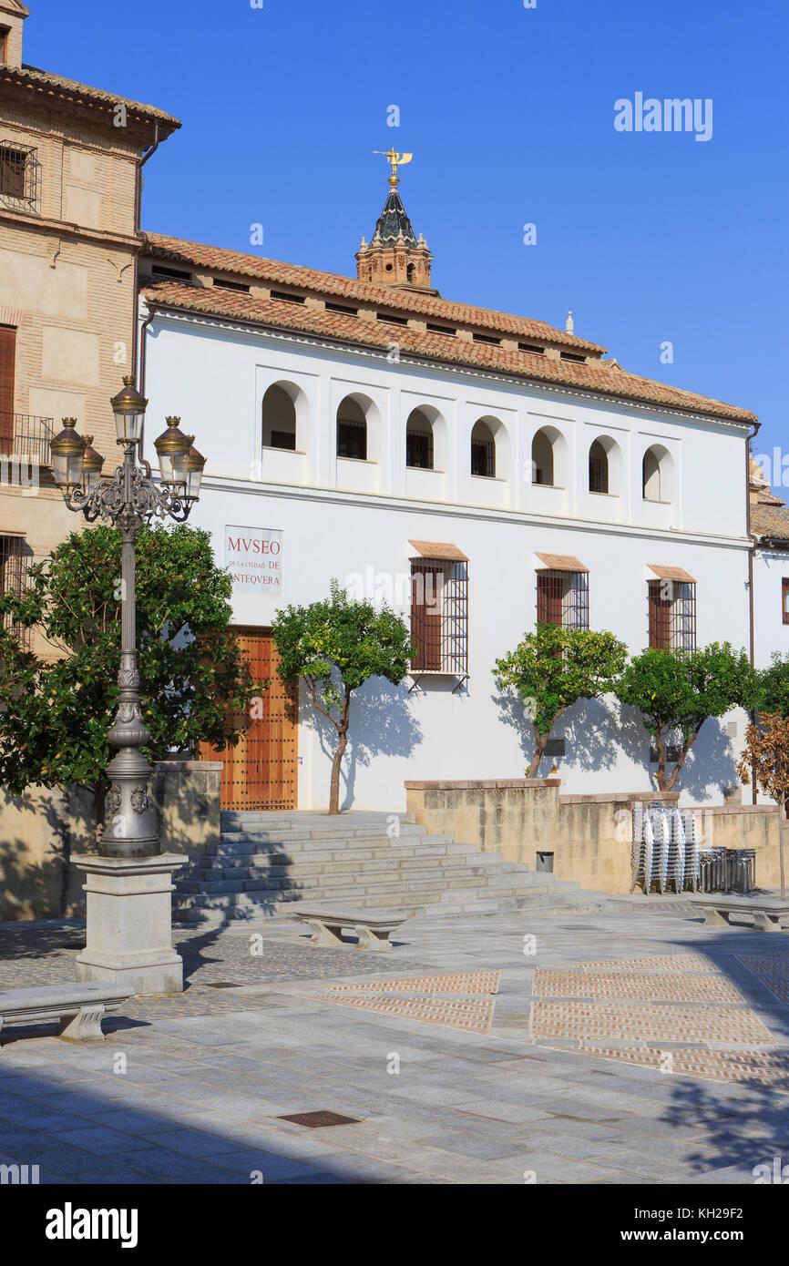 El Museo Municipal de Antequera (Museo de la ciudad de Antequera) en Antequera, España Foto de stock