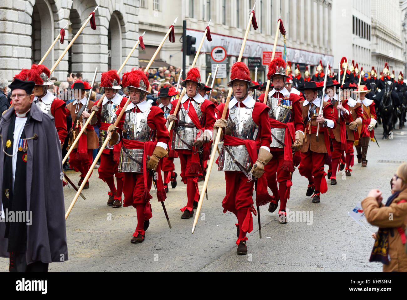 Compañía de piqueros y Mosqueteros Honorable Compañía de artillería al Alcalde del show Imagen De Stock