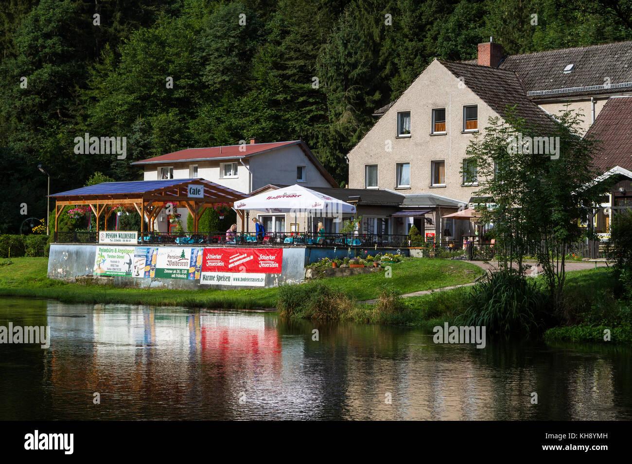 Treseburg Bodetal Foto de stock