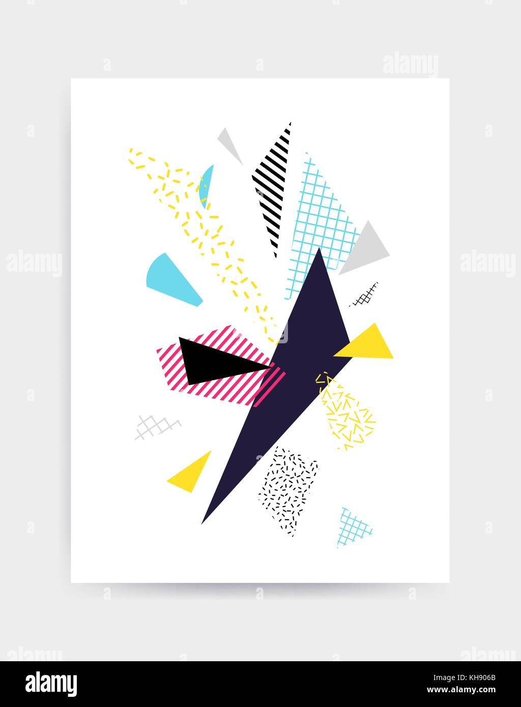 Brillantes y coloridas ilustraciones vectoriales plantilla cartel ...
