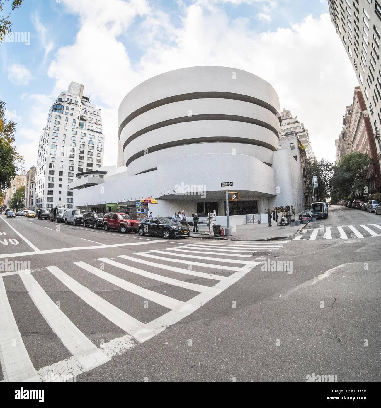 Salomón. R. Guggenheim Museum, la Quinta Avenida, Manhattan, Ciudad de Nueva York, NY, Estados Unidos de América. Imagen De Stock