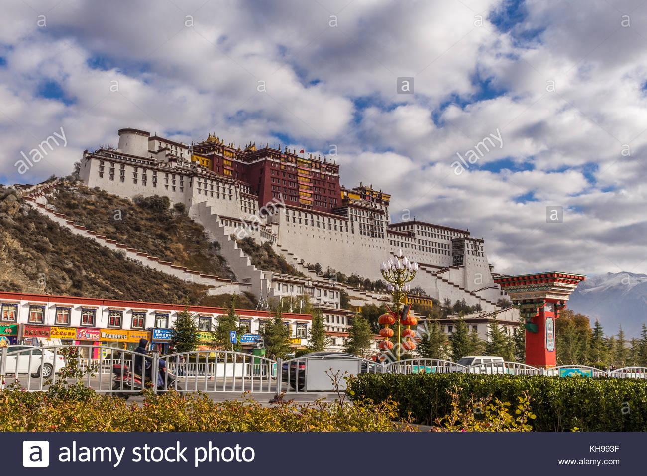 El Palacio de Potala en el Tíbet Imagen De Stock