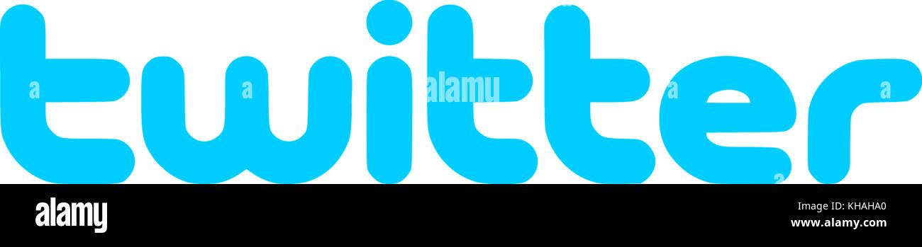 Logotipo de twitter, sitio de intercambio de contenidos, la red social Imagen De Stock