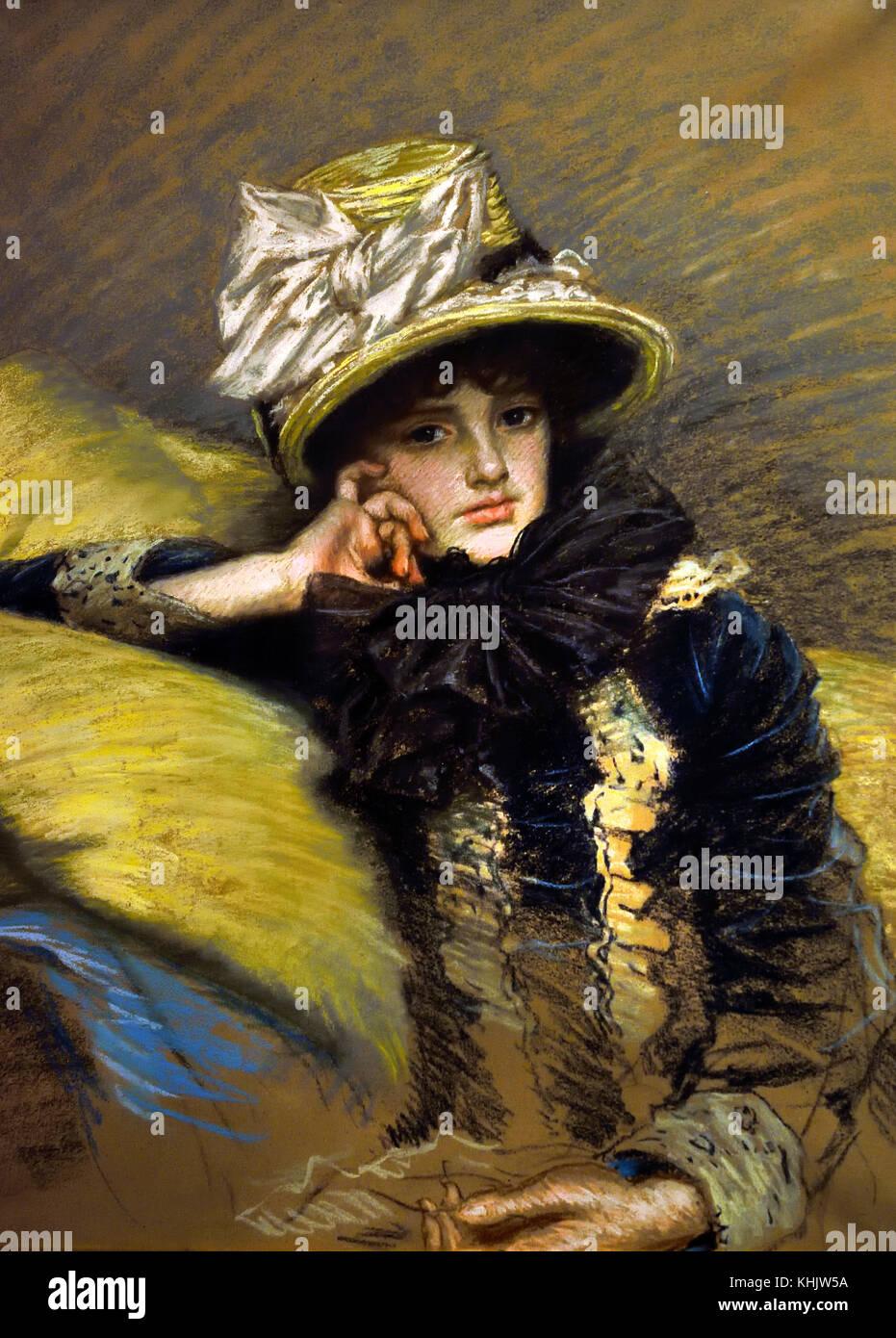 Berthe 1882 James Tissot 1834-1902 Francia Foto de stock