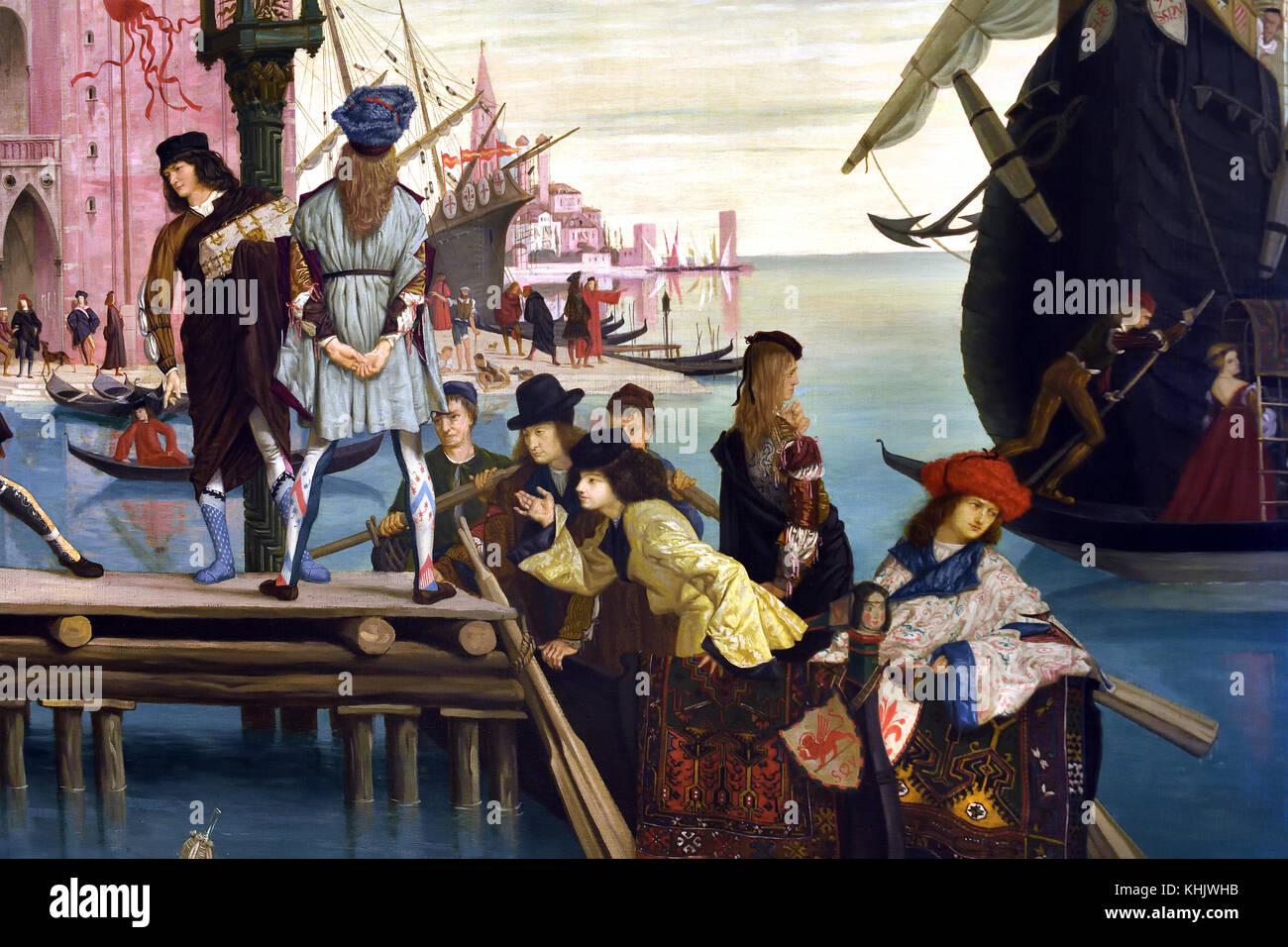 Salida del hijo pródigo - el regreso del hijo prodigo 1863 James Tissot 1834-1902 Francia Foto de stock