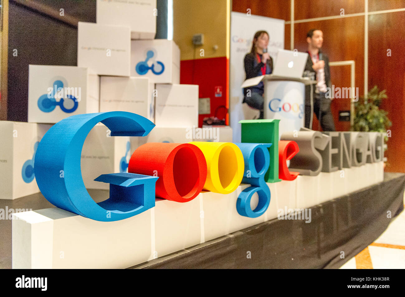 Europa Francia. seminario de capacitación de google Foto de stock