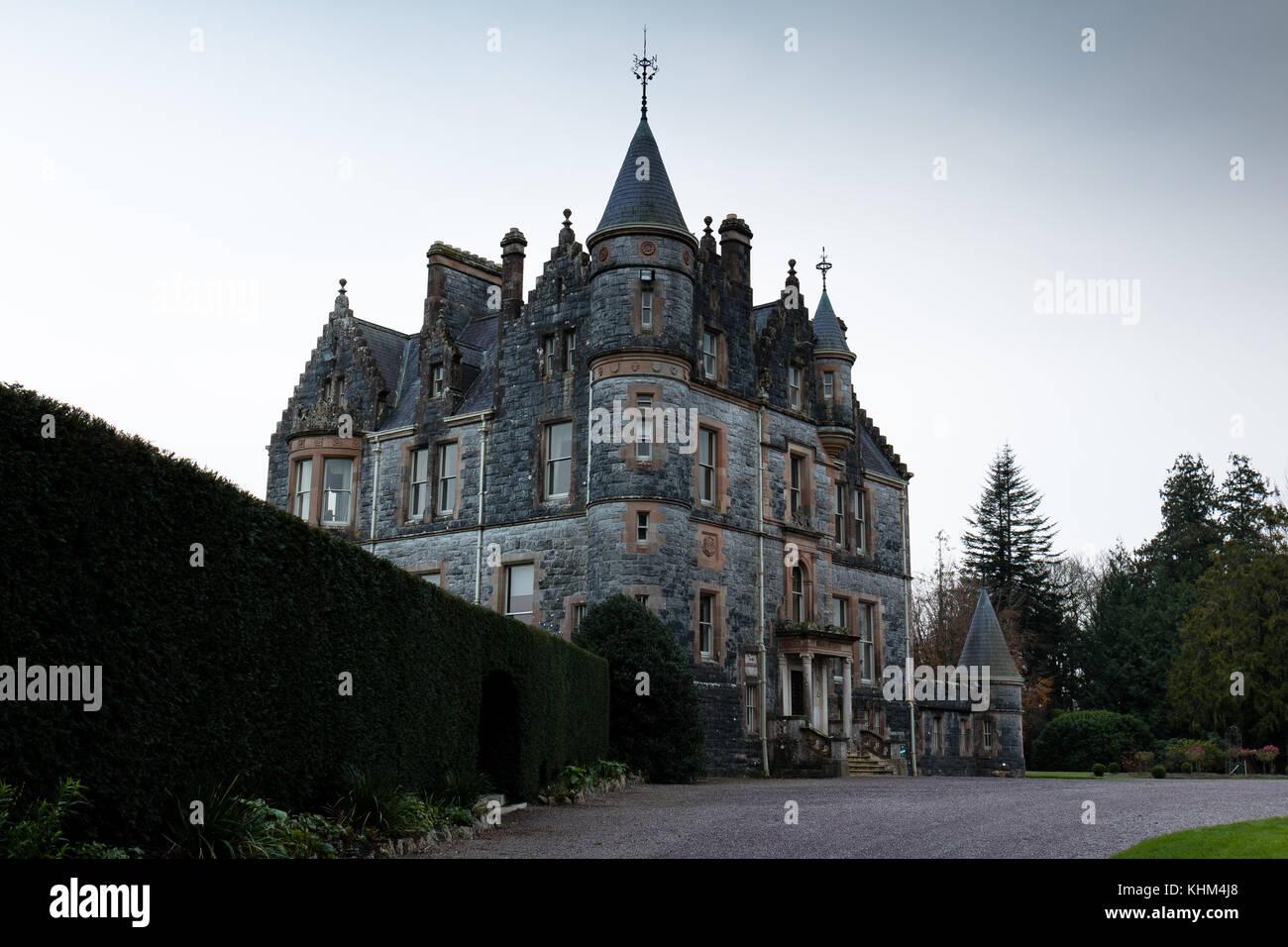 El blarney house, una mansión señorial escocés diseñado por John lanyon en Castillo Blarney. Imagen De Stock