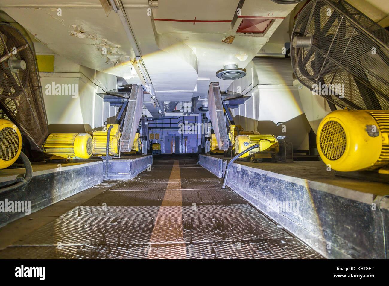 Dentro de la antigua base de la RAF guerra fría Imagen De Stock