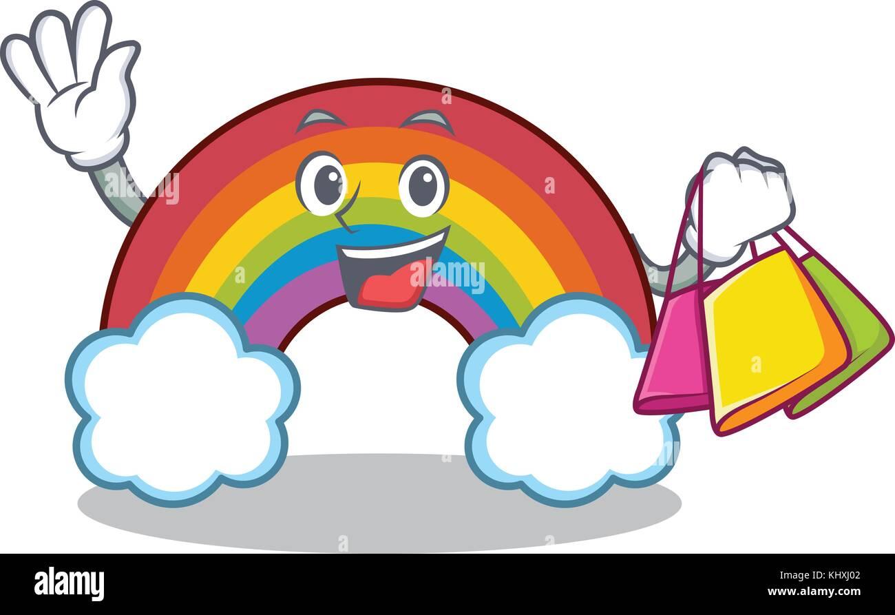 Compras Rainbow Colorido Personaje De Dibujos Animados Ilustracion