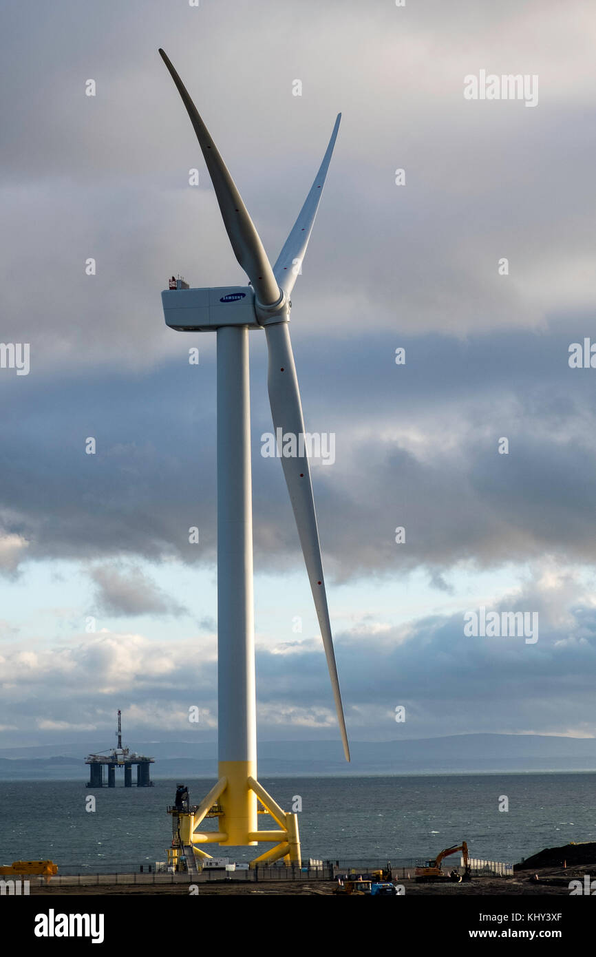 Vista de Burntisland Fabrications astillero Fife parque energético en Methil en Fife, Escocia, Reino Unido. Imagen De Stock