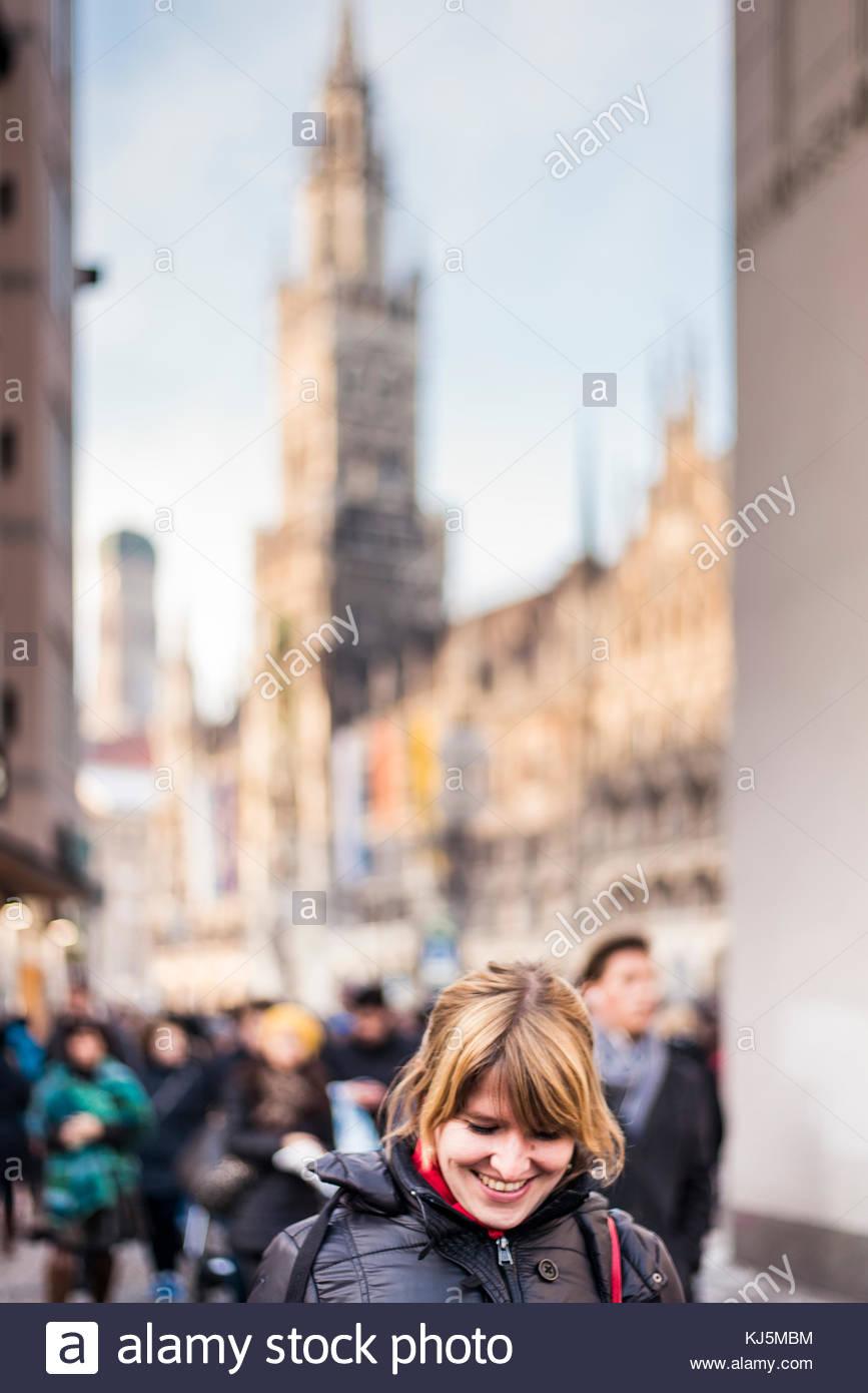 Feliz turísticas Imagen De Stock