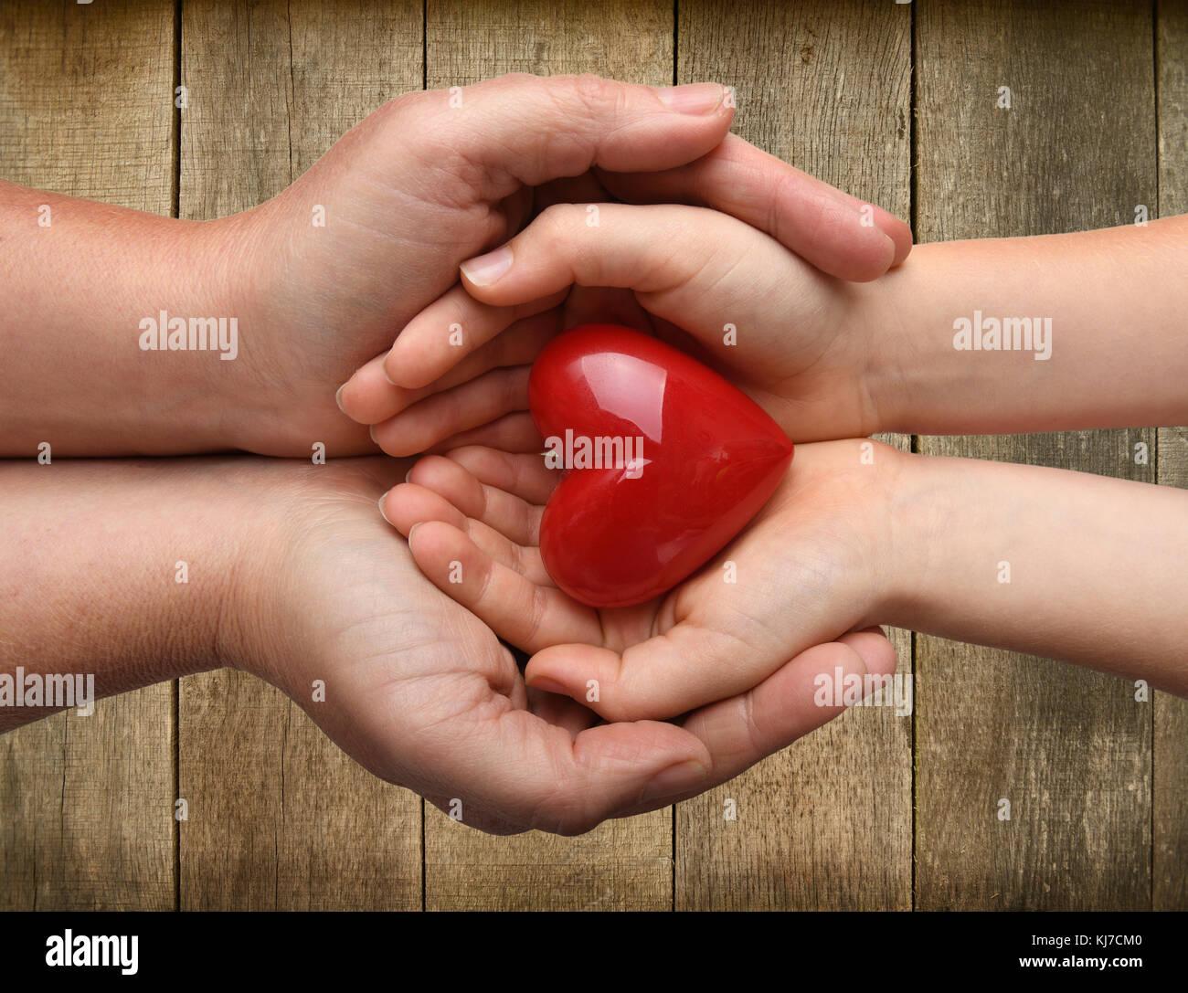 Concepto I love you a niños y padres Imagen De Stock