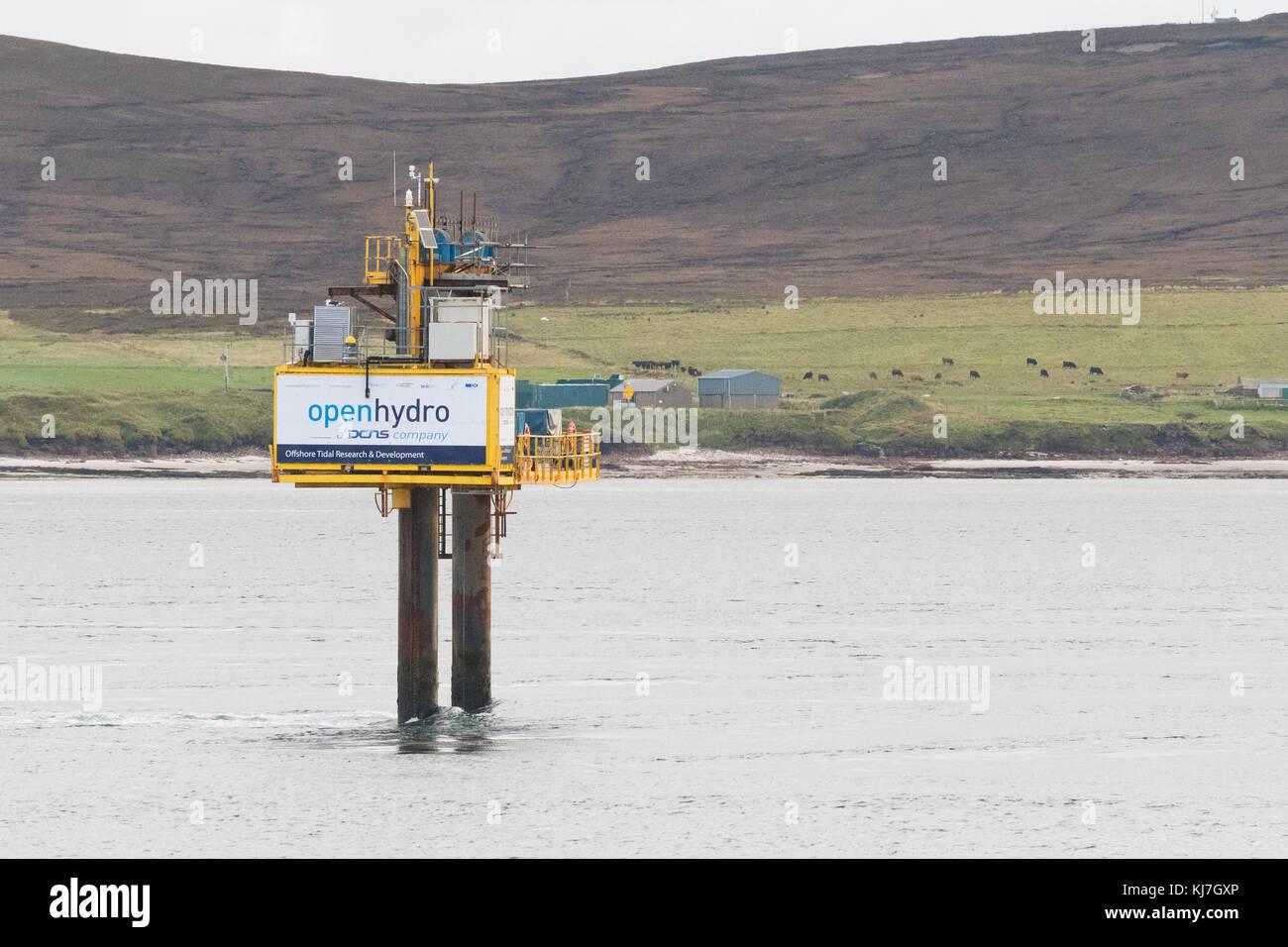 Energía mareomotriz emec sitio de prueba - prueba de energía mareomotriz de turbinas en condiciones reales Imagen De Stock