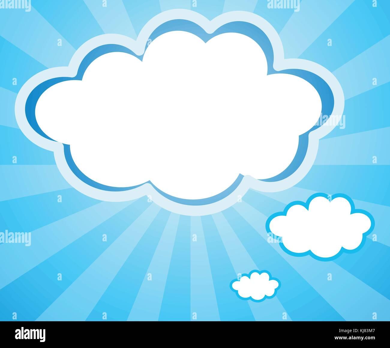 Ilustración de la nube vacía plantillas Ilustración del Vector ...
