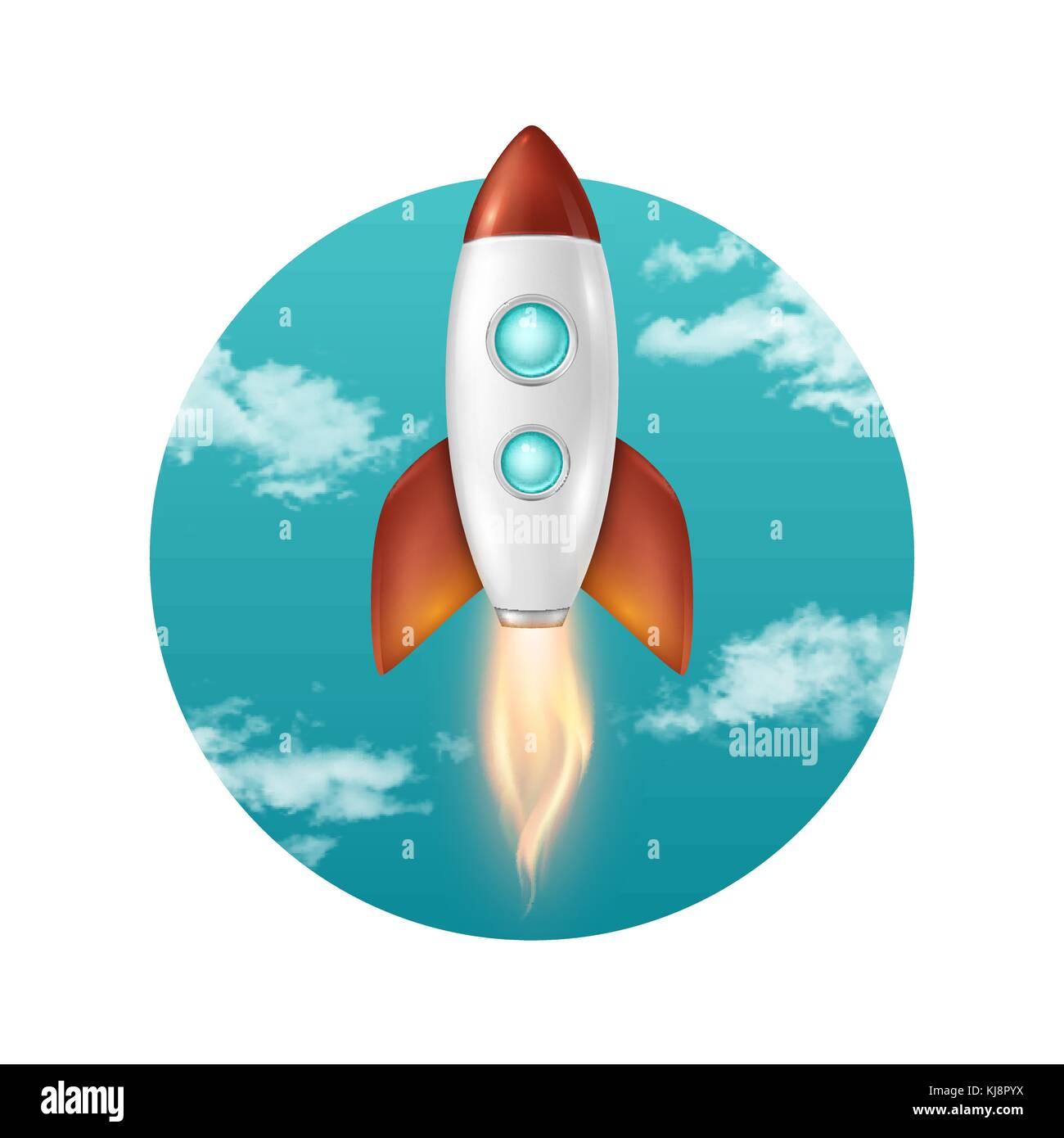 Antecedentes vectoriales con retro-cohete de lanzamiento espacial ...