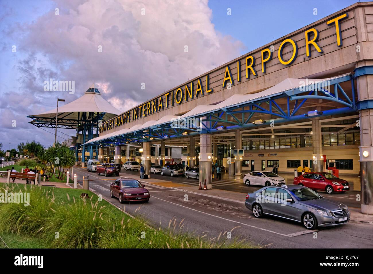 Aeropuerto Internacional Grantley Adams, Bridgetown, Christ Church, Barbados. Foto de stock