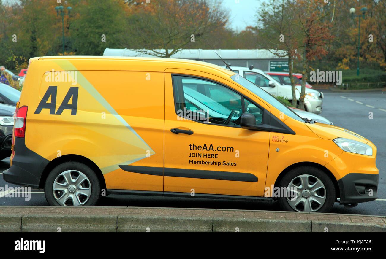 Van AA, Automobile Association, únete aquí, pertenencia ventas, Inglaterra, Reino Unido. Imagen De Stock