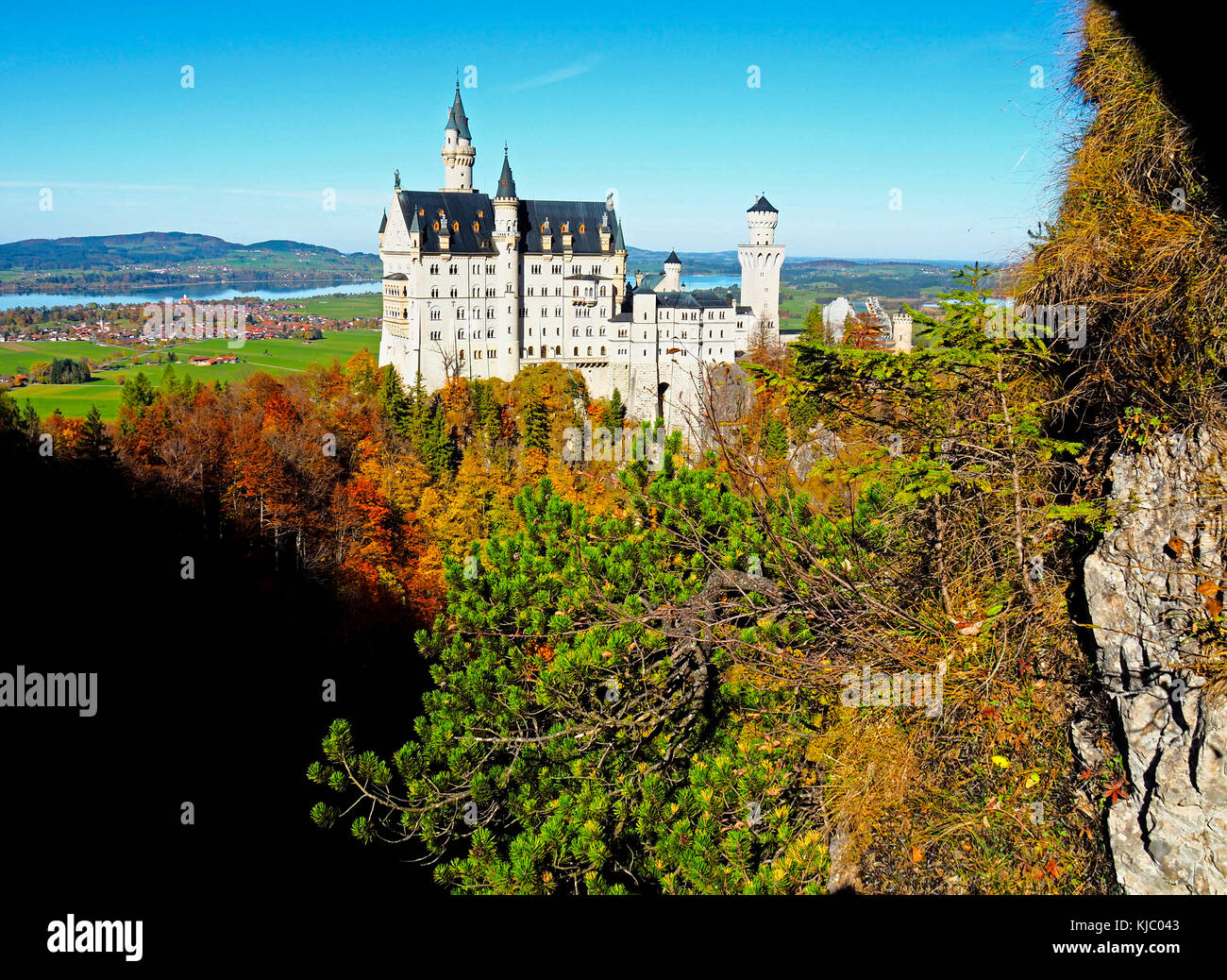 Mad King Ludwig neuschwanstein en Baviera, Alemania. Imagen De Stock
