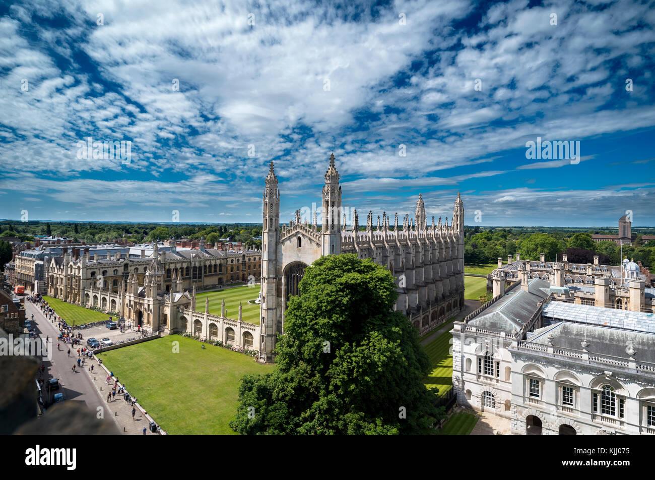 El King's College de Cambridge (1441) CAMBRIDGESHIRE REINO UNIDO Imagen De Stock